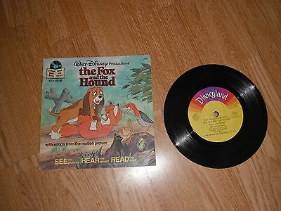 "Walt Disney The Fox And The Hound 7"" + 24 Booklet 1981 Exc"