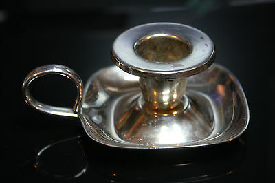 Silver Plated Square Candlestick Holder