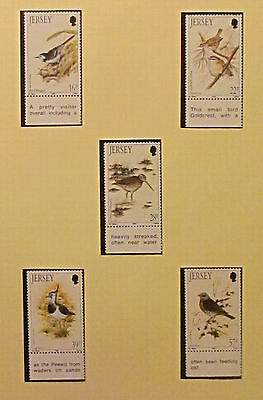Jersey Postage Visiting Birds Mint Unmounted