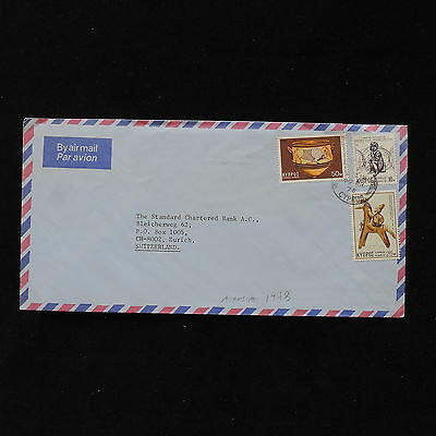 ZS-AB497 CYPRUS IND - Airmail, 1978 From Nicosia To Zurich Switzerland Cover