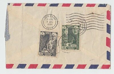 ZS-AB591 ADEN - Airmail, 1958 From Aden Camp, Arabian Address Cover
