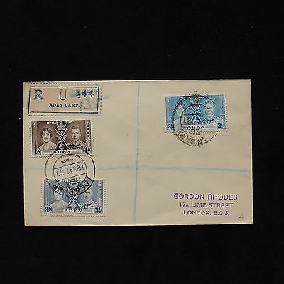 ZS-AB620 ADEN - Coronation, 1937 To London Cover
