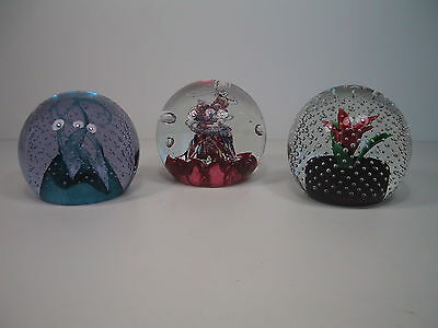 3 Caithness Glass Paperweights