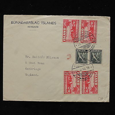 ZS-AB708 ICELAND - Cover, 1950 To Cambridge England
