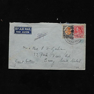 ZS-AB717 SIAM - Airmail, To South Wales, England Cover