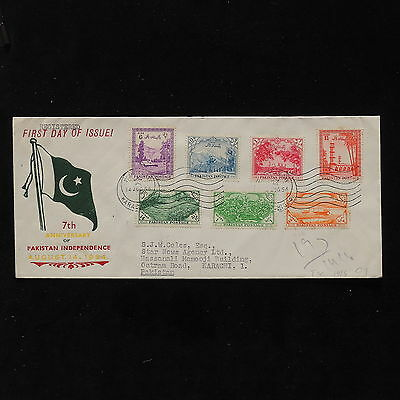 ZS-AB769 PAKISTAN - Fdc, 1954 75Th Anniv. Of Indipendence To Karachi Cover