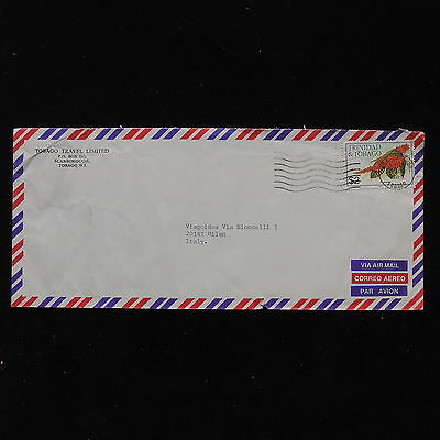 ZS-AB841 TRINIDAD & TOBAGO IND - Flowers, Airmail To Milan Italy Cover