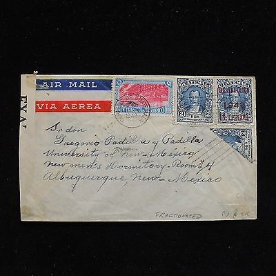 ZS-AC360 GUATEMALA - Censored, 1942 Airmail To Albuquerque Us,Fractionated Cover