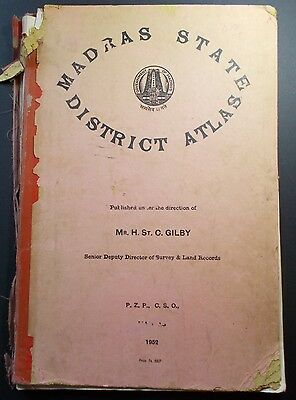 Madras State District Atlas 1952, Rare, India Related. 12 Full Page Maps Only