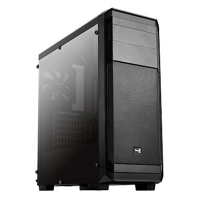Aerocool Aero 300 Black Mid Tower Gaming PC Case w / W USB 3.0