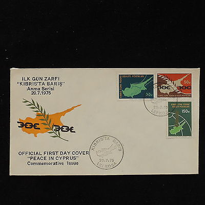 ZS-AC803 CYPRUS IND - Fdc, 1975 Peace In Cyprus Cover