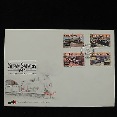 ZS-AC819 ZIMBABWE - Trains, 1985 Fdc, Steam Safaris Cover