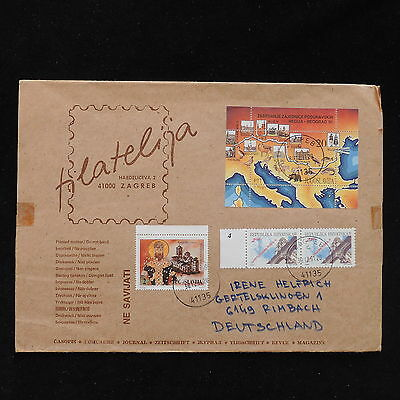 ZS-AC856 CROATIA - Cover, 1991 From Zagreb To Rimbach Germany