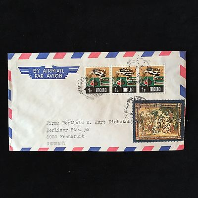 ZS-AC895 MALTA IND - Airmail, To Frankfurt Germany Cover