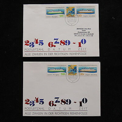 ZS-O162 SHIPS - Germany/Ddr, 1989 70Th Anniv. Covers