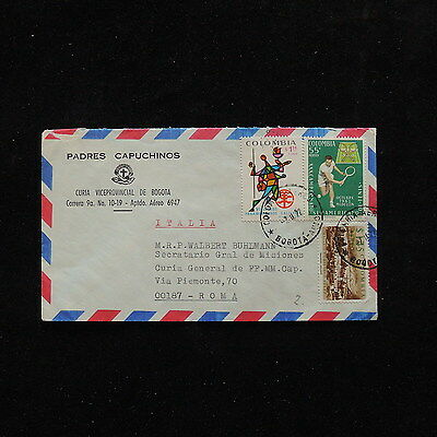 ZS-O415 COLOMBIA - Tennis, 1972 Great Franking To Rome Italy Cover