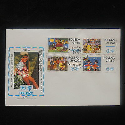 ZS-O442 POLAND - Iyc, 1979 Fdc Int. Year Of The Child Cover