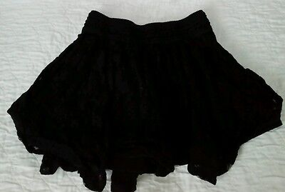 Black Tiered Lace Skirt from Justice size 10