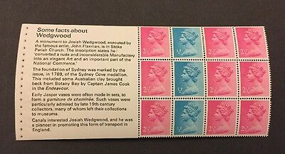 X841o GB Stitched Booklet Pane, From booklet DX1 The Story of Wedgwood 1972 MNH