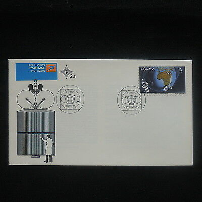 ZS-P185 SOUTH AFRICA IND - Fdc, Space, Satellite Communication 1975 Cover