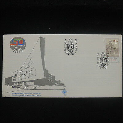 ZS-P215 SOUTH AFRICA IND - Fdc, 50Th Anniv University 1930-1980, Buildings Cover