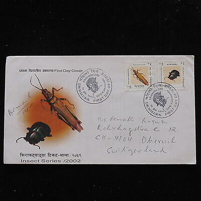 ZS-P907 NEPAL - Fdc, Insects 2002 To Switzerland Cover