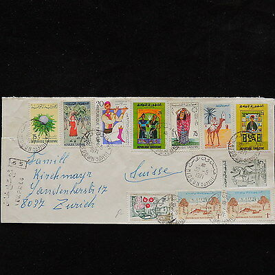 ZS-P965 TUNISIA IND - Cover, Great Franking To Switzerland 1971