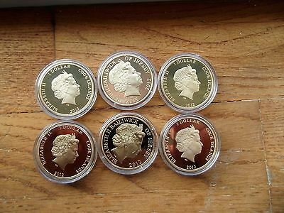 Titanic gold plated coins