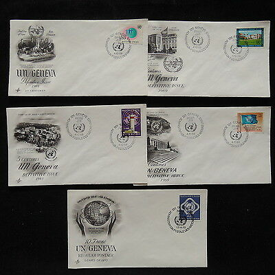 ZS-R147 UNITED NATIONS - Fdc, Lot Of 5 Different Covers