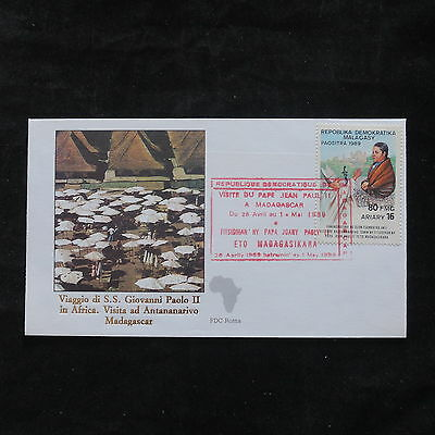 ZS-T343 MADAGASCAR IND - John Paul Ii, 1989 Visit To Africa Cover