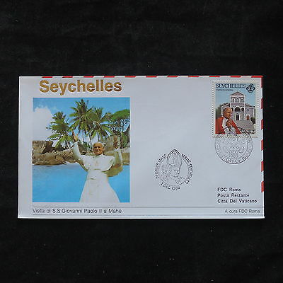 ZS-T346 SEYCHELLES IND - John Paul Ii, 1986 Visit Fdc Cover