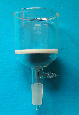 350ml,24/40,Glass Buchner funnel,#3 Suction Filter,Ground Joint,Lab Glassware