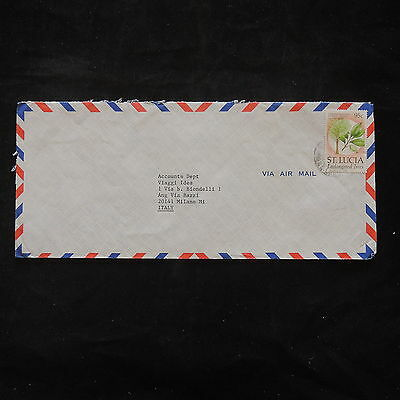 ZS-T464 ST LUCIA IND - Trees, Nature, Airmail To Milan Italy Cover