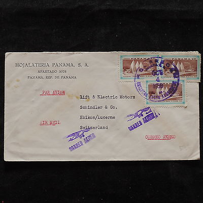 ZS-T974 PANAMA - Cover, Airmail Great Franking To Switzerland 1958