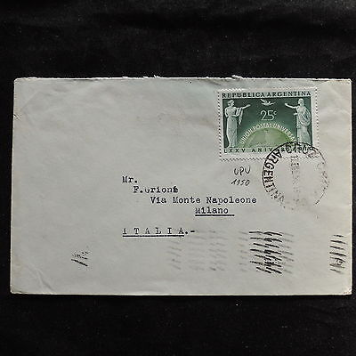 ZS-U176 ARGENTINA - Upu, 1950, Stamp Dealer, Airmail To Italy Cover