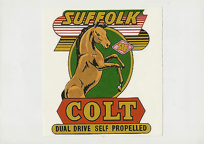 Suffolk Colt Vintage Mower Repro Decal