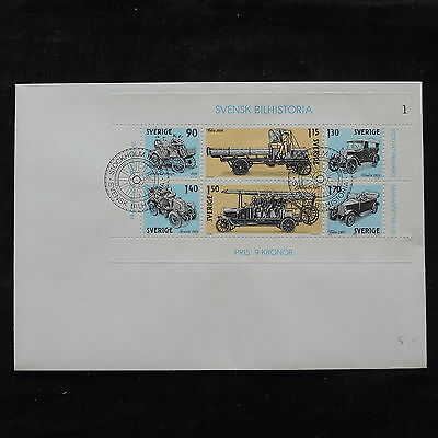 ZS-U590 SWEDEN - Transportation, 1980 Perfored Sheet, Great Franking Cover