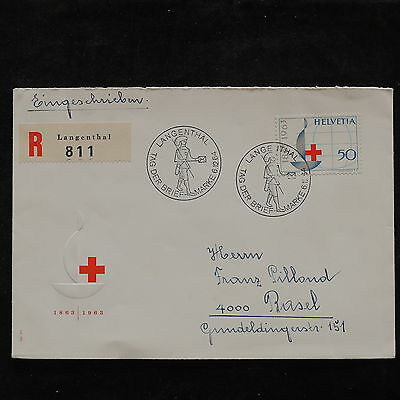 ZS-U807 RED CROSS - Switzerland, 1964 Fdc, Registered Great Franking Cover