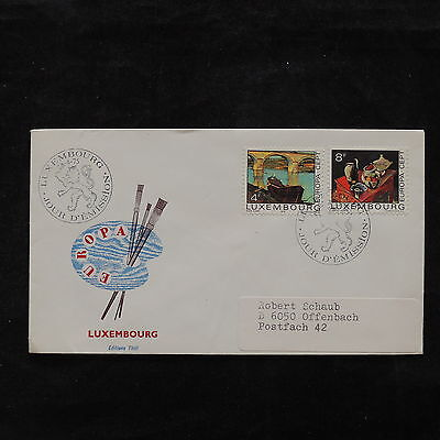 ZS-V163 PAINTINGS - Luxembourg, 1975 Fdc, Great Franking Cover