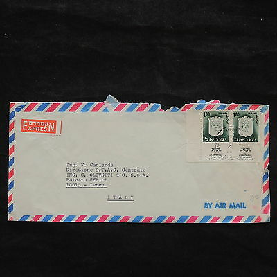 ZS-X018 ISRAEL - Coats Of Arms, Sheet, Airmail To Italy Cover