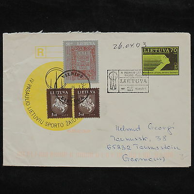 ZS-X109 LITHUANIA - Cover, 2003, Vilnius To Germany