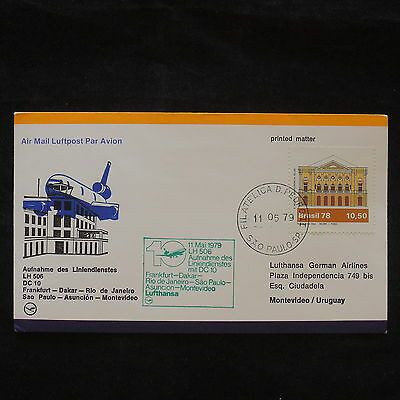 ZS-X681 BRAZIL - Lufthansa, 1979, Flight To Montevideo, Printed Matter Cover