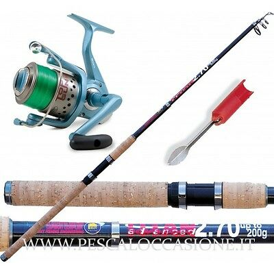 Kit Pesca Fondo Canna Da Pesca Advance Titan + Top Gun + Filo + Puntale PLO