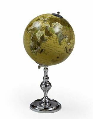 Vintage Style Decorative Globe On Nickel Plated Chrome Stand New & Boxed L68