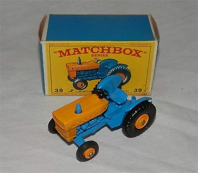 1960s.LESNEY..MATCHBOX,39 FORD Farm Tractor, MINT IN BOX.All Original