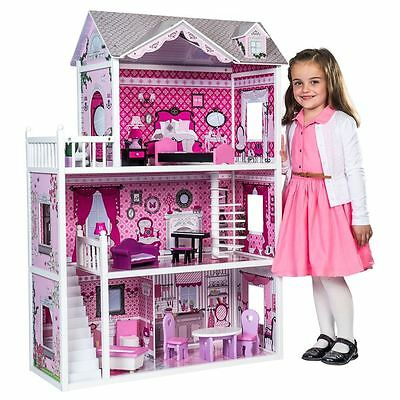 Isabelle's Doll House 123cm High Includes 14 Pieces Of Furnitures