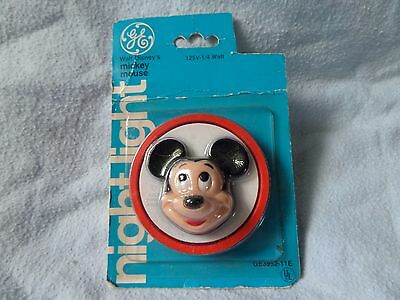 Vtg GE Mickey Mouse Disney Nightlight NIP 1977