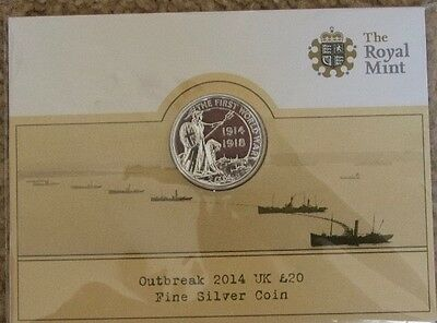 Outbreak 2014 UK £20 Fine Silver Coin (The Royal Mint)