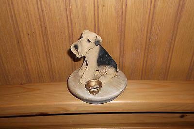 Airedale Terrier Candle Jar Topper