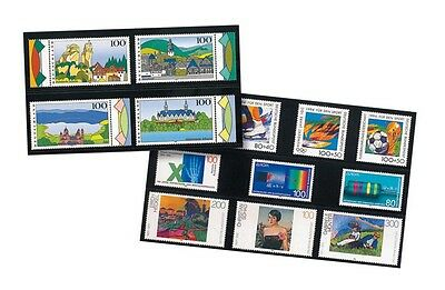 Lindner HA572000 hawid Stock cards with 4 Strips, 210 x 148 mm, black
